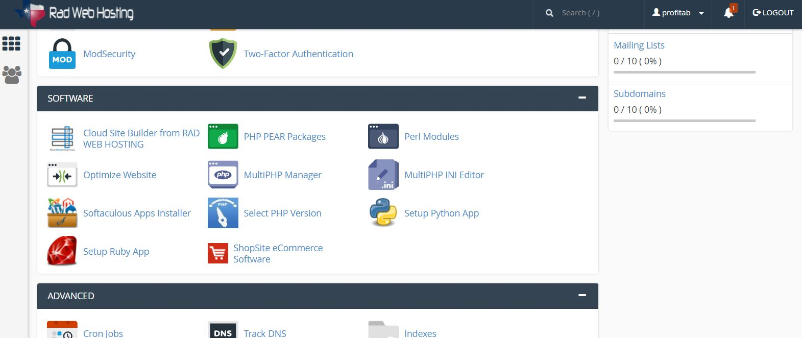 Access Cloud Site Builder from cPanel account