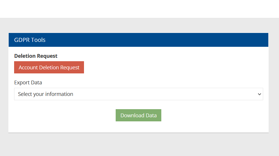 Submit Data Deletion Request