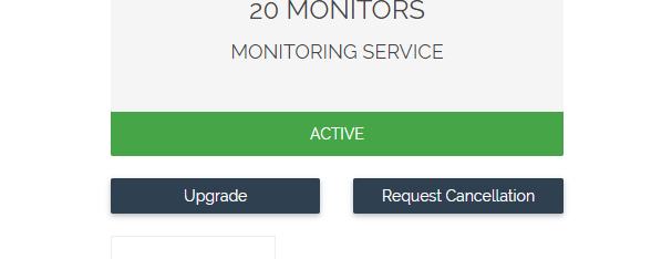 Request Cancellation of Hosting Service